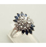Christian Gouden diamanten ring met saffier