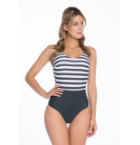 Bomain Ladies swimsuit stripe 20018-300