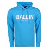 Ballin New York heren hoodie sweat blauw wit