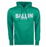 Ballin New York heren hoodie sweat groen wit