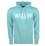 Ballin New York heren hoodie sweat mintgroen wit