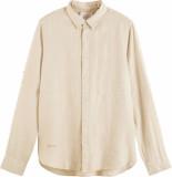 Scotch & Soda Garment-dyed linen shirt sand