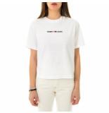 Tommy Hilfiger T-shirt donna tommy jeans tjw bxy crop linear logo tee dw0dw10057.ybr