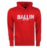 Ballin New York heren hoodie sweat rood wit