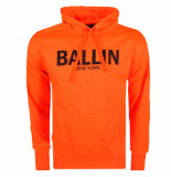 Ballin New York heren hoodie sweat neonoranje zwart