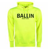 Ballin New York heren hoodie sweat neon geel zwart