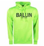 Ballin New York heren hoodie sweat neongroen zwart