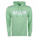 Ballin New York heren hoodie sweat lichtgroen wit