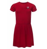 Looxs Revolution Rood jurkje linnen look voor meisjes in de kleur