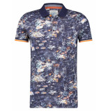A Fish Named Fred 22.03.313 polo festival map navy blue -