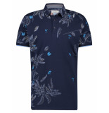 A Fish Named Fred 22.03.303 polo embroidery festival navy blue -