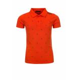 Common Heroes Jersey polo mandarin voor jongens in de kleur