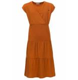 Looxs Revolution Maxi jurk krinkel look oker voor meisjes in de kleur