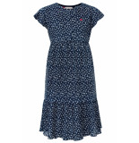 Looxs Revolution Maxi jurk navy krinkel voor meisjes in de kleur