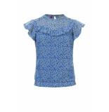 Looxs Revolution Licht blauwe blouse bloemenprint voor meisjes in de kleur