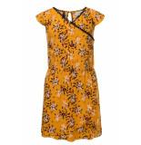 Looxs Revolution Gele overslag jurk bloemenprint voor meisjes in de kleur
