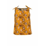 Looxs Revolution Bloemen top geel voor meisjes in de kleur