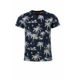 Common Heroes Navy t-shirt palmtree voor jongens in de kleur