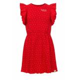 Looxs Revolution Rode katoenen zomerjurk met hartjes voor meisjes in de kleur