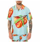 Stussy Camicia uomo peach pattern shirt 1110159.lightblu