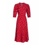 Smashed Lemon Jurk midi red dress