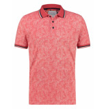 A Fish Named Fred 22.03.330 polo floral pique pink -