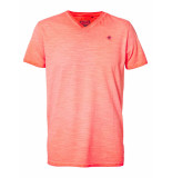Petrol Industries M-1010-tsv604 t-shirt v-neck 3099 fiery coral -