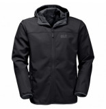 Jack Wolfskin Winterjas northern point men black