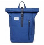 Sandqvist Rugzak dante blue with blue leather