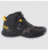 Jack Wolfskin Wandelschoen kids woodland texapore mid black burly yellow xt
