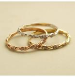 Christian Gouden ringen set met zirkonia