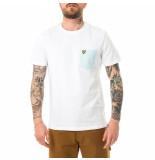 Lyle and Scott T-shirt uomo lyle &scott contrast pocket t-shirt ts831v.w362