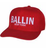 Ballin New York Ballin snapback- cap unisex rood wit