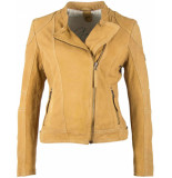Gipsy Ggshakyra leather jacket lnuv curry