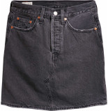 Levi's Hr decon icnic bfly regular skirt blk denim