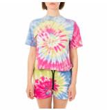 Shoe T-shirt donna tie dye short sleeve t-shirt tessat4262.sk