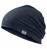 Jack Wolfskin Muts kids travel beanie night blue medium
