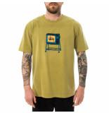 Stussy T-shirt uomo rolling tv pig. dyed tee citron 1904672.ctro