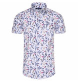 Ferlucci heren korte mouw overhemd calabria flower design -