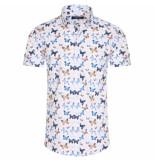 Ferlucci heren korte mouw overhemd calabria butterfly -
