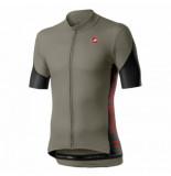 Castelli Fietsshirt men entrata v jersey bark green light black fiery r