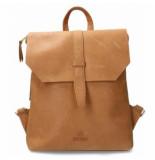 Fred de la Bretoniere Backpack grain leather sand medium