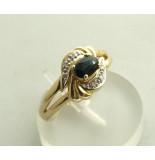 Atelier Christian Gouden saffier en diamanten ring