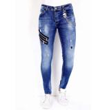 True Rise Jeans verfspatten 0000