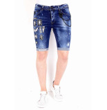 Local Fanatic Korte broek slim fit met patches xxx