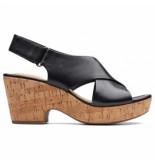 Clarks Original Sandalettes women maritsa lara black leather