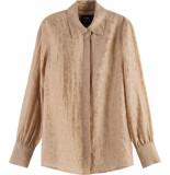 Maison Scotch Regular fit shirt in animal jacquar oat