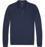Wahts Davis navy blue polo