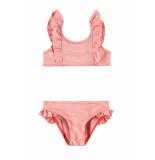 Looxs Revolution Bikini rood streepje voor meisjes in de kleur