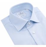 Emanuel Berg Heren overhemd hemels non iron twill widespread slim fit